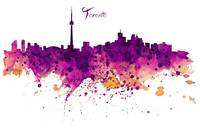 Toronto Watercolor Skyline
