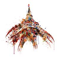 Eiffel Tower Watercolor