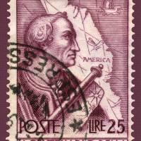 Amerigo Vespucci Italian Postage Stamp Art Prints & Posters by Phil Cardamone