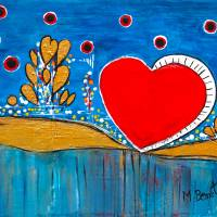 Heart of Mine Art Prints & Posters by Maggie Bernet