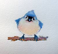 5X5-BABY-BLUEBIRD-ORIGINAL-WATERCOLOR-c2016MarciaB