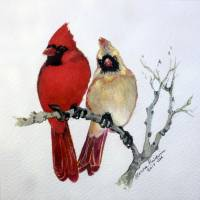 SASSY PAIR CARDINALS by Marcia Baldwin