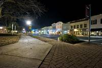 Nighttime shot in downtown Georgetown, Texas