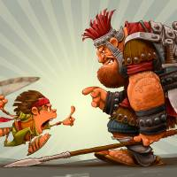 David And Goliath Art Prints & Posters by Dennis Jones