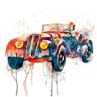 Vintage BMW Watercolor