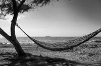 Hammock on a desolate Santa Marta beach