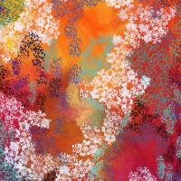 Untitled Abstract No 1 Art Prints & Posters by Jennifer Lommers