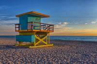15th Street Lifeguard Tower after Sunrise