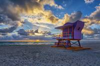12th Street Lifeguard Tower after Sunrise
