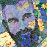 Echo Park Garden Flower Bear Art Prints & Posters by RD Riccoboni