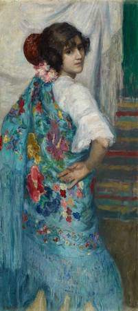 Gonzalo Bilbao Martínez , A Girl with Shawl c. 191