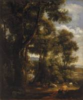 JOHN CONSTABLE, LANDSCAPE WITH GOATHERD AND GOATS