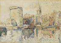 Paul Signac 1863 - 1935 LA ROCHELLE, TOWER OF FOUR