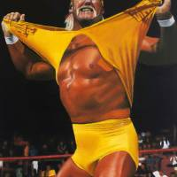Hulk Hogan Oil on Canvas Art Prints & Posters by David Rives