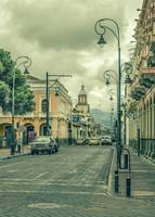 Historic Center Urban Scene at Riobamba City, Ecua