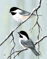Two Winter Chickadees