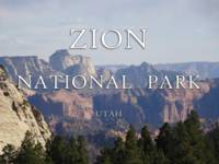 Zion National Park Poster: Utah Hiking Trails
