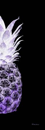 14Rr Artistic Glowing Pineapple Digital Art Purple