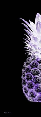 14RL Artistic Glowing Pineapple Digital Art Purple