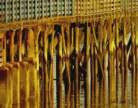 Ocean Pier Dock Reflections