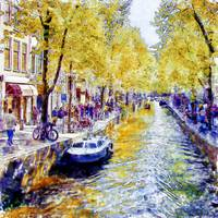 Amsterdam Canal watercolor
