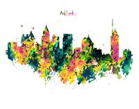 Atlanta Watercolor Skyline