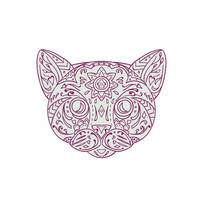 Cat Head Mandala