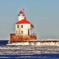 Wisconsin Lighthouse by Lisa Rich