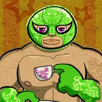 Luchador con Te Art Prints & Posters by Alan Defibaugh