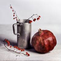 Still Life with Pomegranate Art Prints & Posters by Nailia Schwarz