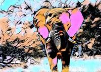 Elephant Comic Pop Art
