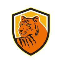 Tiger Head Front Crest Retro