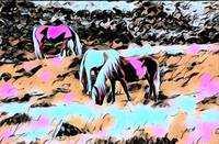 Horses Pop Art Comic