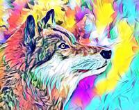 Wildlife Wolf  Pop Art
