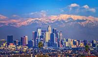 L.A. Cityscape with Snow