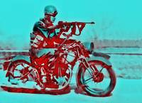 WWI Motorcycle Soldier