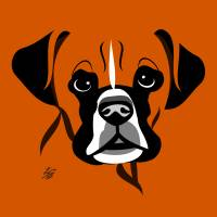 Stylized Dog Art Of Boxer Art Prints & Posters by Pixel Paint Studio
