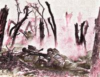 Battle in Splintered Trees WWI