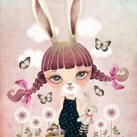 Sugar Bunny Art Prints & Posters by SANDRA VARGAS