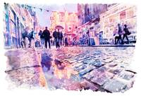 Dublin Watercolor Streetscape