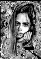 Cara Delevingne Pencil Portrait