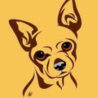 Stylized Chihuahua Art Art Prints & Posters by Pixel Paint Studio