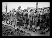 Women Officers Inspect Troops WWII