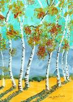 Evening Birches