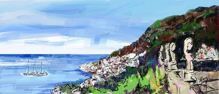 Ravello Villa Cimbrone Ravello Digital Painting