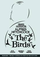 The Birds, Hitchcock Movie Poster, Horror Film,