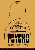 Psycho, Hitchcock, Movie Poster, classic film, old