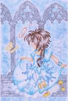 Butterfly Wishes  Angel Art