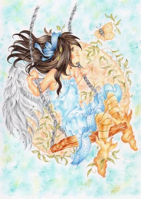 Stunning angel art artwork for sale on fine art prints for Angel paintings for sale