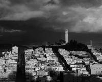 sf_coit_tower_storm_P-bw by WorldWide Archive